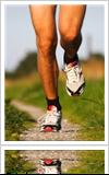 Man running wearing shoes