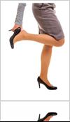 Girl wearing high heel shoes